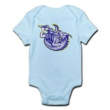 Knight fighting dragon Infant Bodysuit