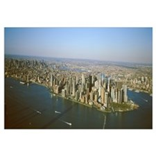New York, New York City, Aerial view of Lower Manh