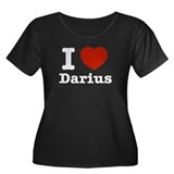 I love Darius Women's Plus Size Scoop Neck Dark T-