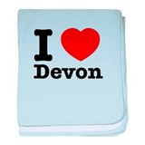 I love Devon baby blanket
