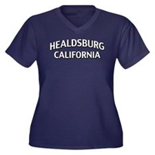 Healdsburg California Women's Plus Size V-Neck Dar
