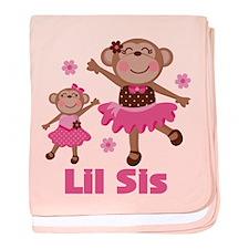 Little Sister Monkey baby blanket