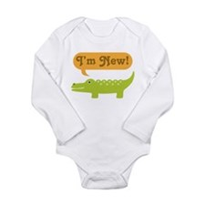Alligator New Baby Long Sleeve Infant Bodysuit