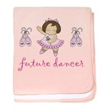 Ballerina Future Dancer baby blanket