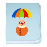 Cute Cartoon Parachuter baby blanket