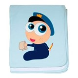 Baby Police Officer baby blanket