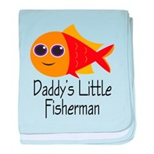 Daddy's Little Fisherman baby blanket