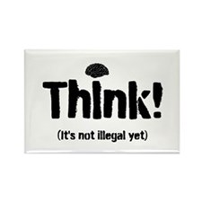 Think! Rectangle Magnet (100 pack)