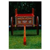 Hand painted ox cart in a park, Sarchi, Costa Rica