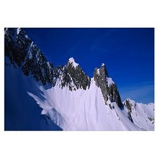 Low angle view of snowcapped mountains, Zurs, Aust
