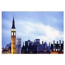 Buildings in a city, Big Ben, Houses Of Parliament