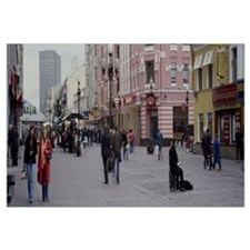 Group of people walking on the street, Arbat Stree