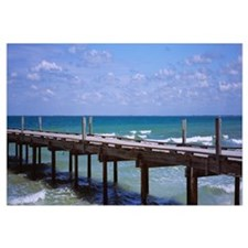 Pier in the sea, Anna Maria City Pier, Anna Maria,