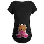 Pink Ribbon Breast Cancer Bear Maternity Tee