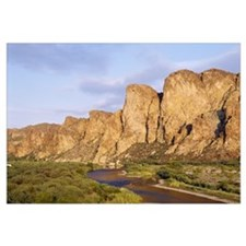 Rock formations in front of a river, Salt River, P