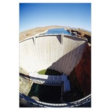 High angle view of a dam, Glen Canyon Dam, Arizona