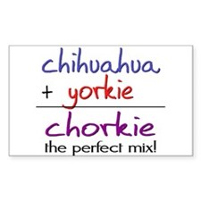 Chorkie PERFECT MIX Decal