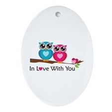 Owl Always Love You Ornament (Oval)