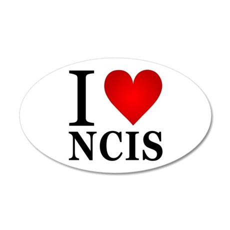 I Love NCIS 38.5 x 24.5 Oval Wall Peel