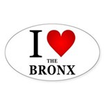 I Love the Bronx Sticker (Oval 50 pk)