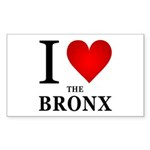 I Love the Bronx Sticker (Rectangle 10 pk)