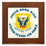 509th Bomb Wing with Text Framed Tile