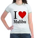 I Love Malibu Jr. Ringer T-Shirt