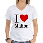I Love Malibu Women's V-Neck T-Shirt