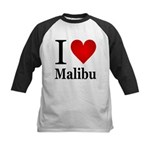 I Love Malibu Kids Baseball Jersey