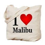 I Love Malibu Tote Bag
