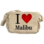 I Love Malibu Messenger Bag