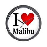 I Love Malibu Wall Clock