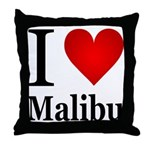 I Love Malibu Throw Pillow