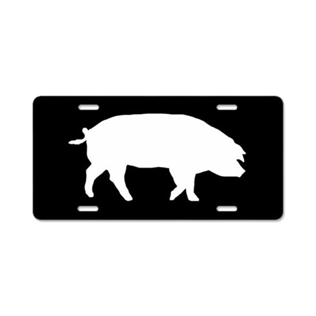 Show Pig Silhouette Pig silhouette aluminum license plate. favorite ...