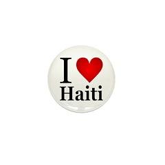 I Love Haiti Mini Button (100 pack)