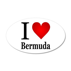 I Love Bermuda 22x14 Oval Wall Peel