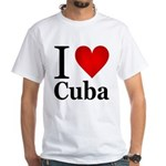 I Love Cuba White T-Shirt