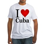 I Love Cuba Fitted T-Shirt