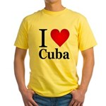 I Love Cuba Yellow T-Shirt