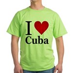 I Love Cuba Green T-Shirt