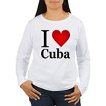 I Love Cuba Women's Long Sleeve T-Shirt