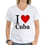 I Love Cuba Women's V-Neck T-Shirt