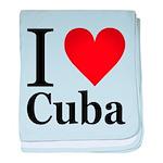 I Love Cuba baby blanket