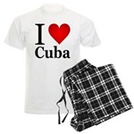 I Love Cuba Men's Light Pajamas