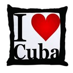 I Love Cuba Throw Pillow