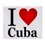 I Love Cuba Throw Blanket