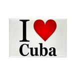 I Love Cuba Rectangle Magnet (10 pack)