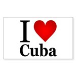 I Love Cuba Sticker (Rectangle 50 pk)