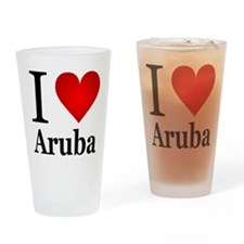 I Love Aruba Drinking Glass
