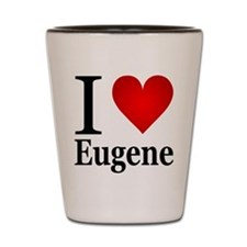 I Love Eugene Shot Glass